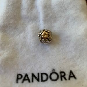 Gold and silver 4 leaf clover Pandora charm
